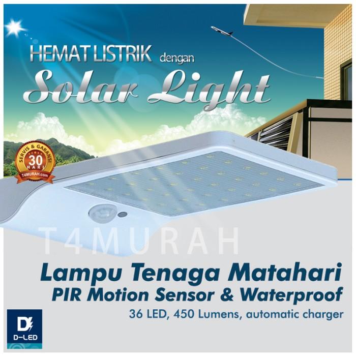 Jual Lampu Led Tenaga Matahari Hemat Energi Otomatis Menyala 36