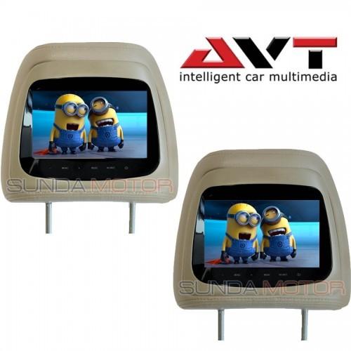 harga Headrest monitor avt hm 7088 beige 1 set Tokopedia.com
