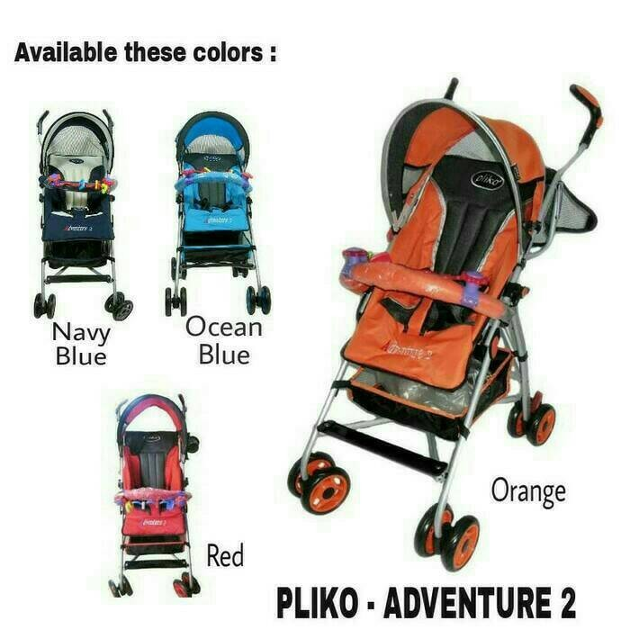 harga Pliko Adventure 2 Pk-108 Buggy Baby Stroller Kereta Dorong Bayi Tokopedia.com