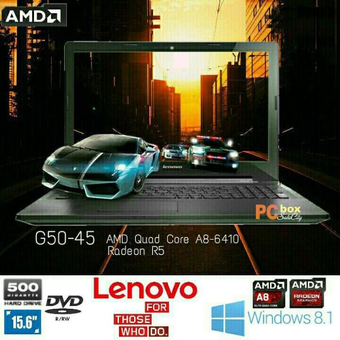 Jual Lenovo G50-45 AMD Quad Core A8-6410 Radeon R5 Windows 8 1 - Kota  Surakarta - PCboxSoloCity | Tokopedia