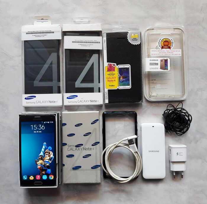 [PROMO] Samsung Galaxy Note 4 (SM-N910H) + Case & Battery Kit ORIGINAL