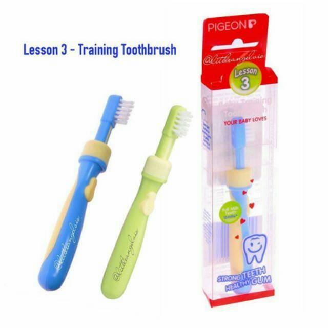 Pigeon training toothbrush step 3 / tooth brush sikat gigi bayi ...