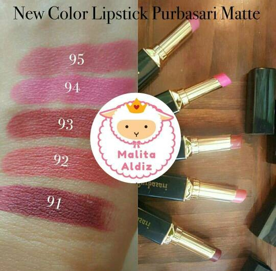 Purbasari Lipstick Color Matte 91,92,93,94,95 (NEW SHADES)