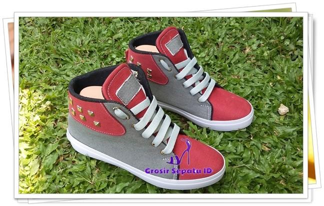 Jual Sepatu Wanita - Flatshoes - Sepatu Kets Stut  KS-01  - Merah ... ab5d82d63b
