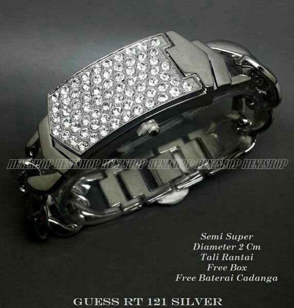 Jam tangan wanita ( guess rt 212 silver )