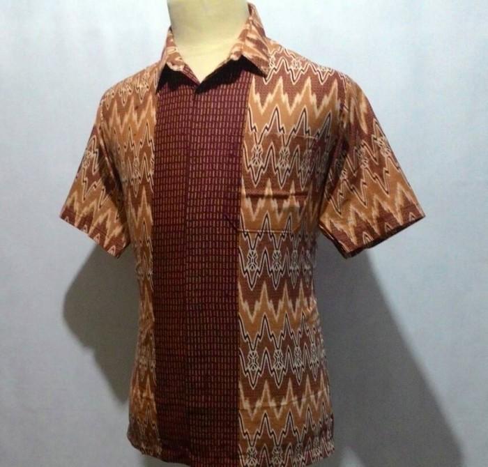 harga Kemeja baju batik pekalongan pria cowok motif songket rangrang c31 Tokopedia.com