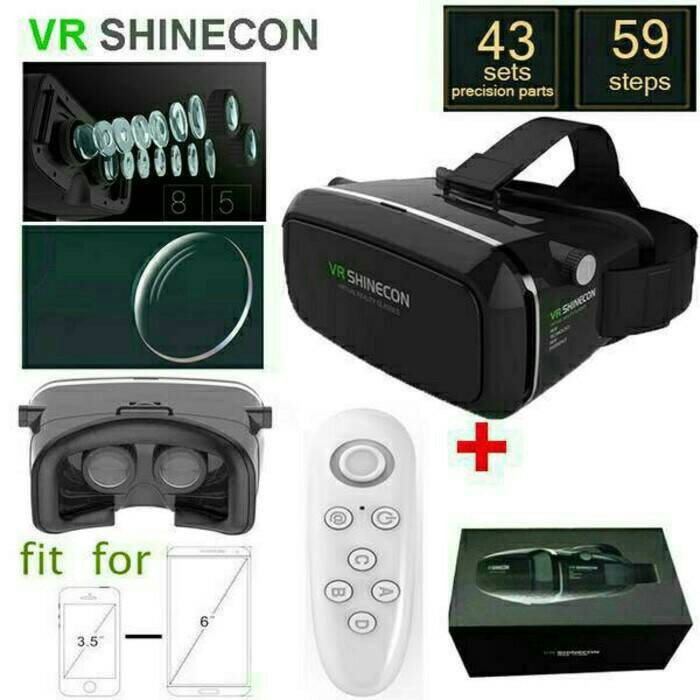 Vr Box SHINECON + Remote Bluetooth ( Gamepad )