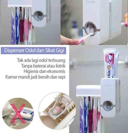 Dispenser Odol Dan Tempat Sikat Gigi / Tempat Odol