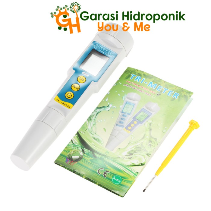 Tds Meter Ph Temperature Alat Hidroponik .