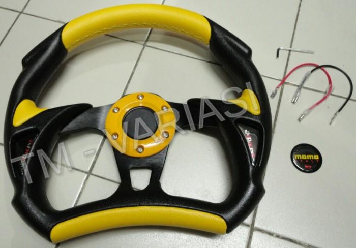 harga Stir racing momo alien 13 inchi kuning kombinasi hitam Tokopedia.com