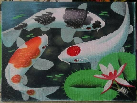 harga Lukisan ikan koi mini Tokopedia.com