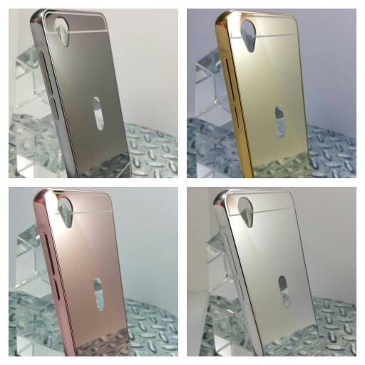 Case For Vivo Y15 Bumper Slide Mirror Rose Gold Free Tempered Glass Source · Metal Bumper