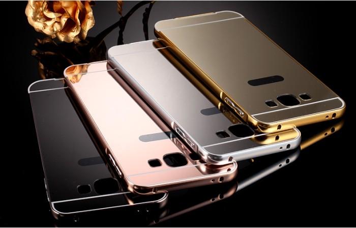 Jual Metal Bumper Slide Mirror ORI Hard Case Cover Casing Samsung Galaxy ...