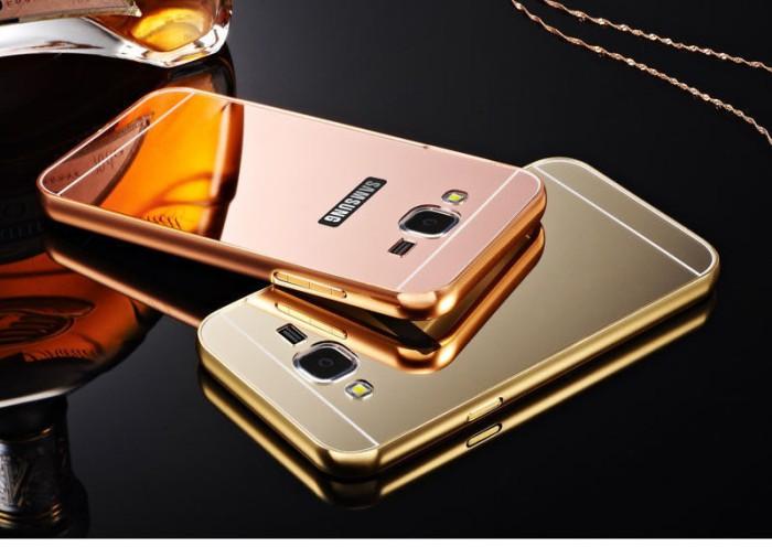 Metal Bumper Slide Mirror Hard Case Casing Samsung Galaxy Grand Neo