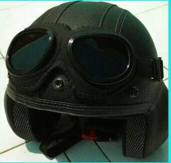 harga Helm pilot retro oscar kilit kacamata google Tokopedia.com
