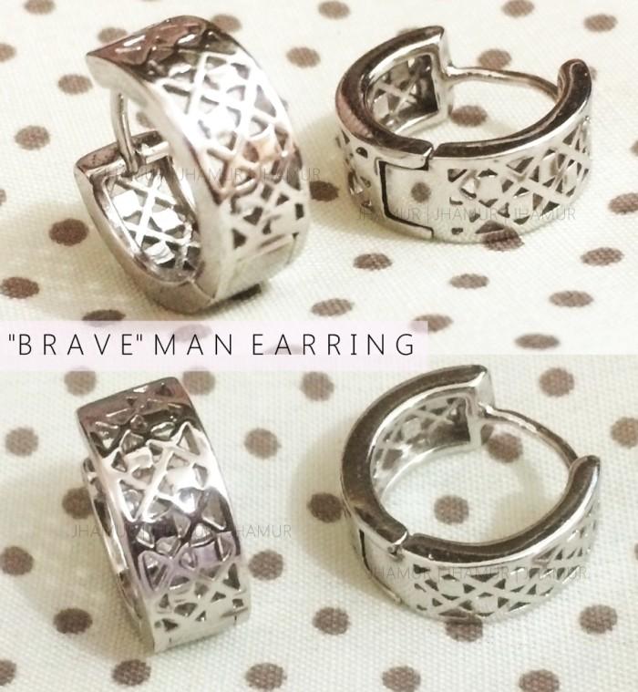 brave man earring / anting tindik fashion pria murah / piercing bawah
