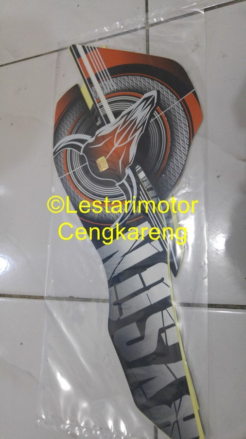harga Striping lis/lis body/stiker motor byson 2012 orange Tokopedia.com