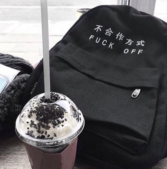 FUCK OFF backpack - tumblr stuff