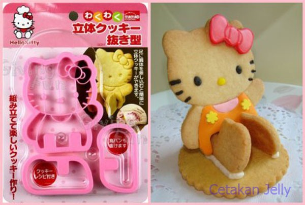 Hello kitty bread & cookie cutter 3d ...