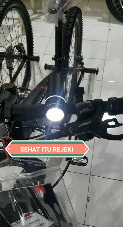 Foto Produk LAMPU SEPEDA SPIN 1 SET DEPAN + BELAKANG | HEAD + REAR LAMP BY POLYGON dari Sehat Itu Rejeki