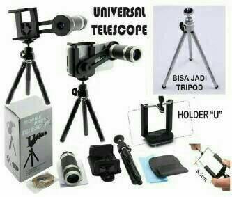 harga Lensa telescope + tripod + holder dan acesorisnya Tokopedia.com