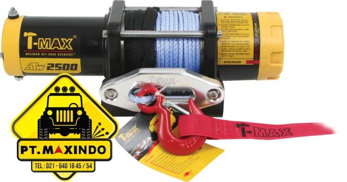 harga T-max winch atw-2500 (11 ton) dengan synthetic rope untuk motor atv Tokopedia.com