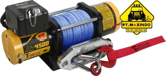 harga T-max winch atw-4500 (2 ton) dengan synthetic rope untuk motor atv Tokopedia.com