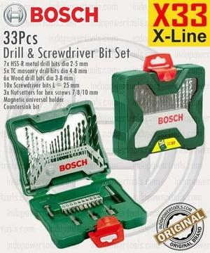harga Mata bor obeng set 33 pcs drill & screwdriver bit set bosch Tokopedia.com