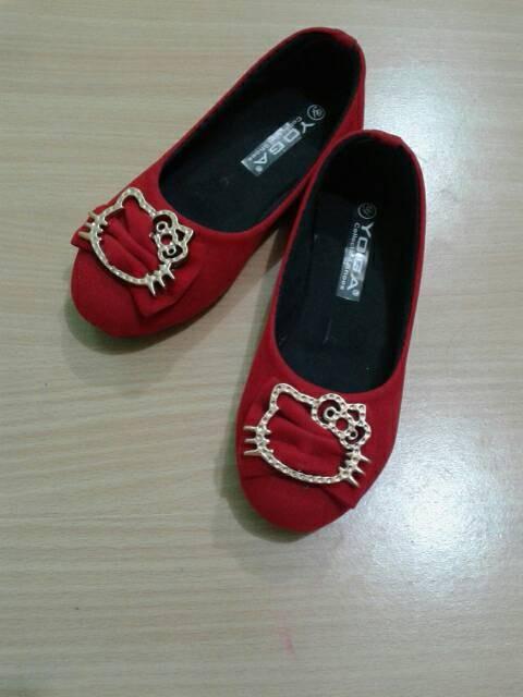 harga Sepatu anak hello kitty merah yoga sz 30-35 Tokopedia.com
