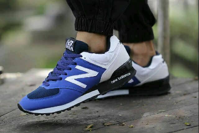 buy online 9b4dc e1721 Jual sepatu cowok NB 574 blue white import quality - Kota Bandung - Raja  sepatu jaya   Tokopedia