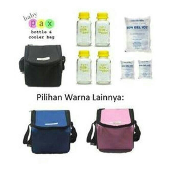 ... harga Paket c (cooler bag baby pax+botol kaca baby pax 150ml+ice