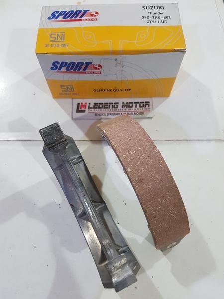 Foto Produk Kampas Rem Tromol Belakang Thunder Suzuki Sport Brake Shoe Bukan Ori dari Ledeng Motor Bandung