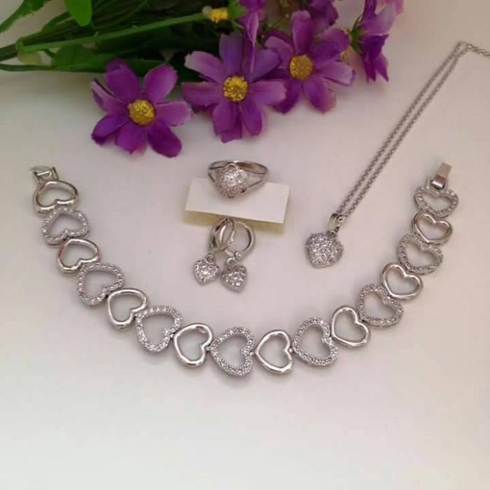 Jual Set Perhiasan Xuping lapis emas putih 18k - Jakarta ...