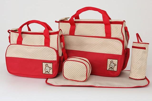 Baby Bag Set, 5 in 1 Travel Organizer, Tas Perlengkapan Bayi / Balita