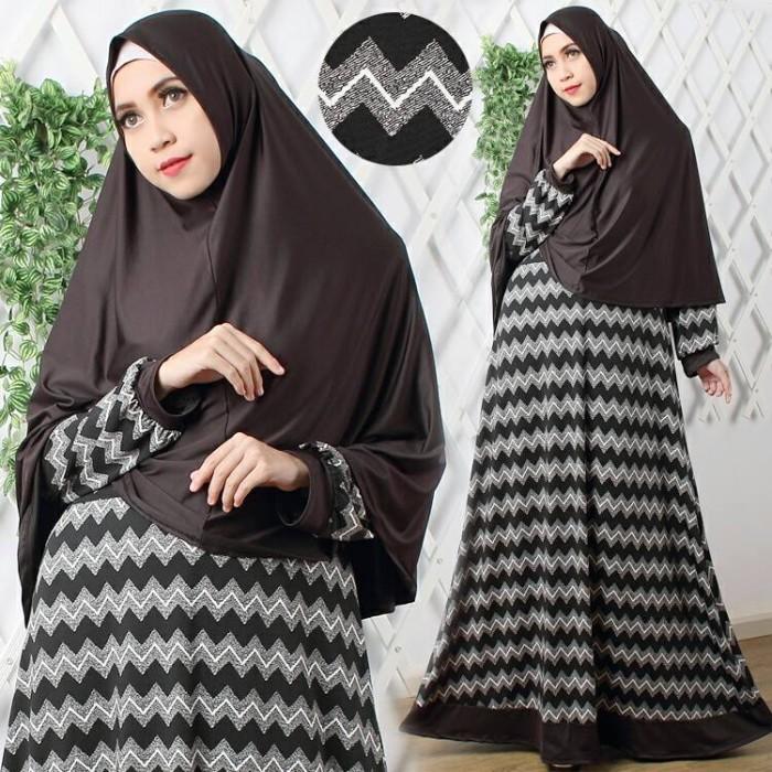 harga Baju busana muslim gamis fatiah syar'i hitam  maxi bergo no ped busui Tokopedia.com