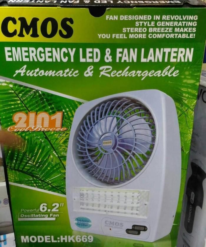 harga Cmos emergency led fan lantern kipas angin lampu darurat hk669 hk 669 Tokopedia.com