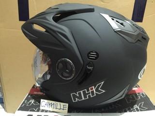 harga Helm nhk aviator double kaca hitam dop Tokopedia.com