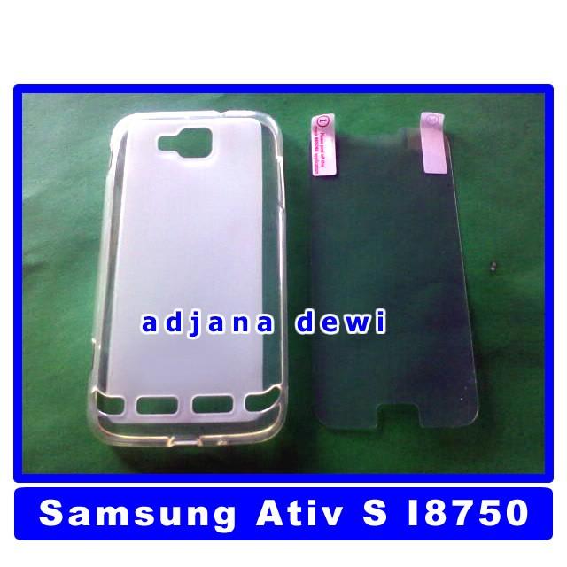 Silikon Soft Case Samsung Galaxy Ativ S I8750 Putih + Bonus Anti Gores