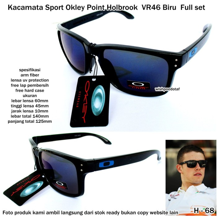Jual kacamata sunglasses sport okley point holbrook vr 46 biru ... 66e9a9decb