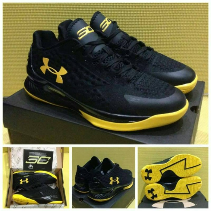 28b8e2a25b4 ... inexpensive sepatu basket under armour curry one low black yellow final  14526 3938b