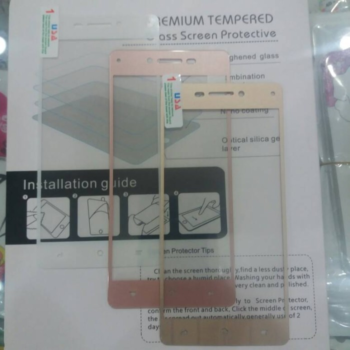 Tempered Glass Oppo Neo 9 A37 F1 Lite Colour Glass Full Layar