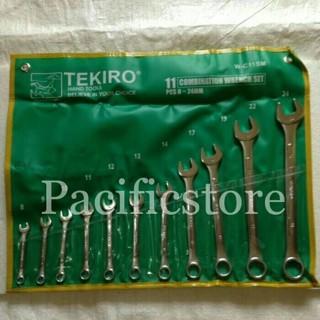 Tekiro Kunci Ring Pas Set 11 Pcs 8-24mm