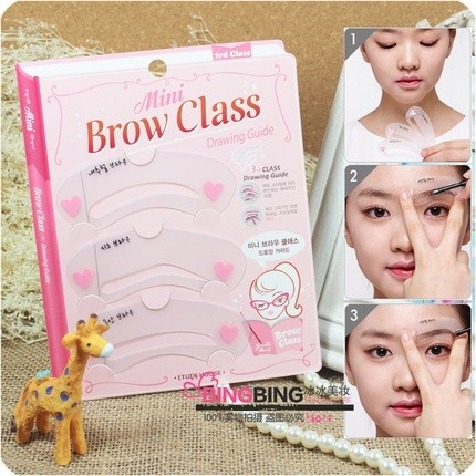 Set Cetakan Alis Mini Brow Class Cetakan Pensil Alis 1 pack 3 Model .