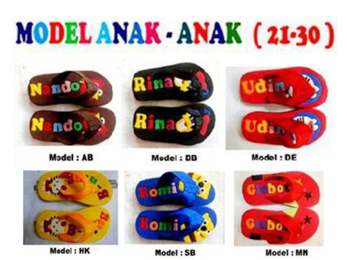 harga Sendal / sandal jepit karet spons karakter anak pria wanita no sepatu Tokopedia.com