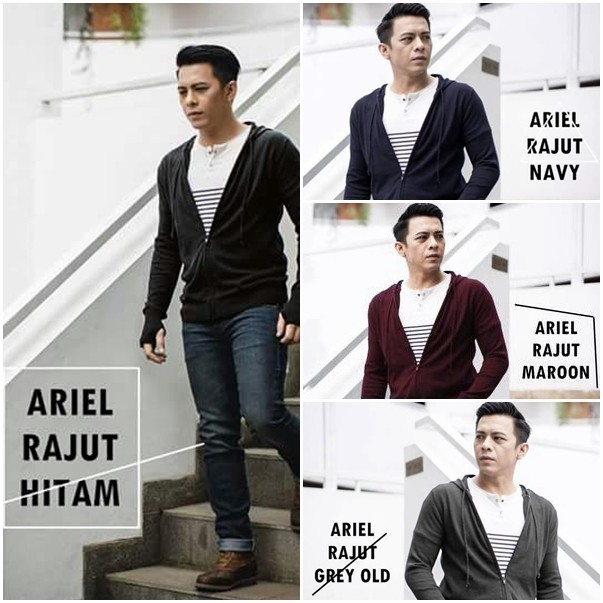 Sweater Switer Rajut Polos Greenlight Ariel Noah