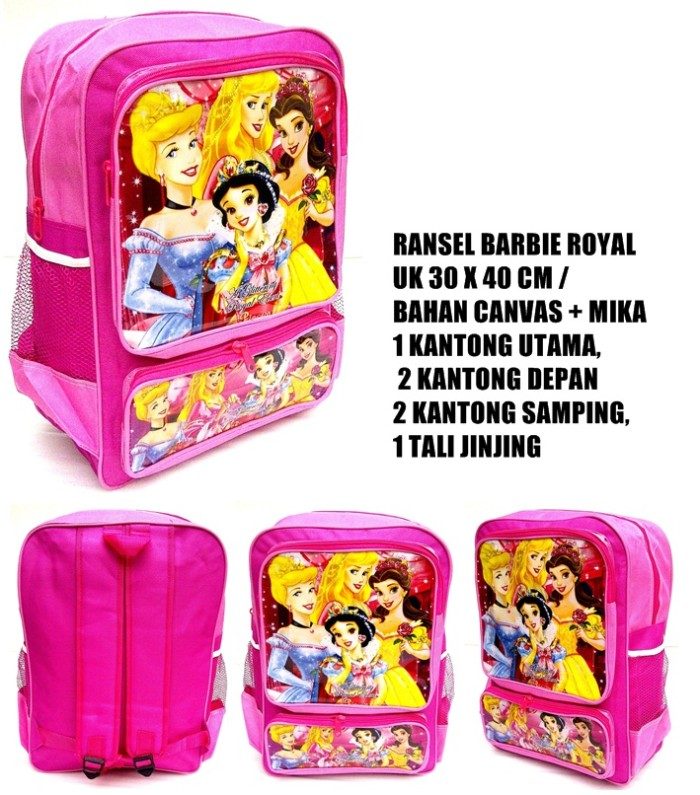 tas ransel anak barbie royal