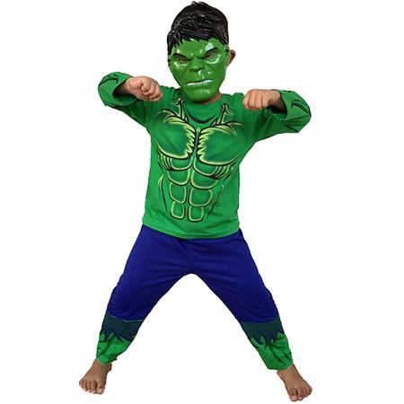 Baju anak + topeng / baju anak kostum superhero hulk / baju hulk