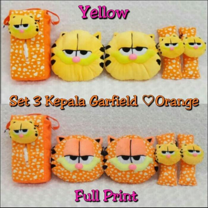 ... harga Set car bantal mobil boneka garfield love kuning orange 3 in 326bdd2b02