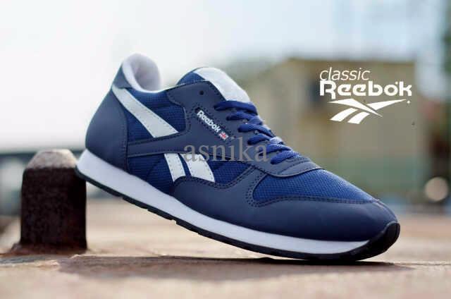 Jual Sepatu Reebok Classic Nevy List Putih N9DH - asnika  340fd933bb