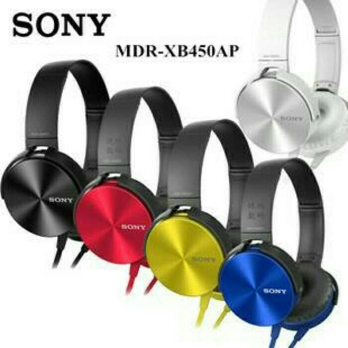 harga Headphone Sony Mdr-xb450ap Extra Bass / Headset / Handsfree / Earphone Tokopedia.com
